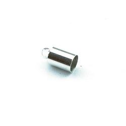 Eindkapje, zilver, rond, 10 mm, binnenmaat 4 mm (10 st.)