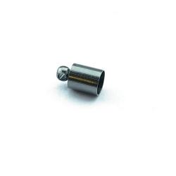 Eindkapje, blackplated, rond, 10 mm, binnenmaat 4 mm (10 st.)