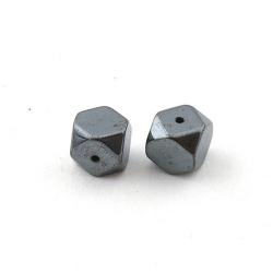 Hematiet kraal hoekig 8 mm (5 st.)