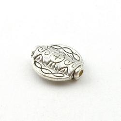 Metalen kraal, rond, zilver, 18 mm (5 st.)