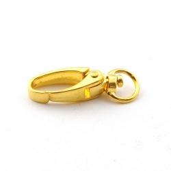 Metaal, musketonhaak, ovaal, goud, 36 mm (3 st.)