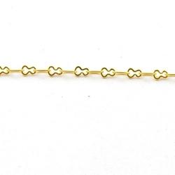 Jasseron, fantasie schakel, goud, 4 mm (1 meter)