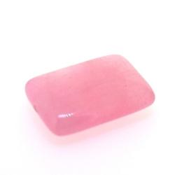 Dyed Jade, kraal, rechthoek, roze, 30 x 22 mm (3 st.)