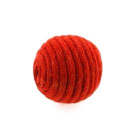 Touwkraal, rood, 21 mm (3 st.)