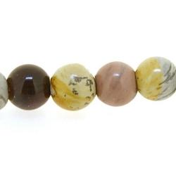 Halfedelsteen kraal, Rhodoniet, rond, 6 mm (20 st.)