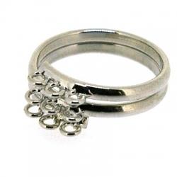 Ring met 9 oogjes, zilver, maat 17 (1 st.)