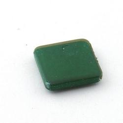 DQ Acryl kraal vierkant groen metallic 20 mm (5 st.)
