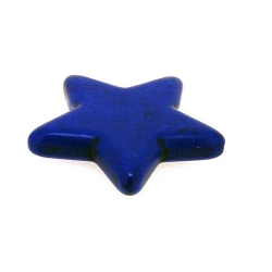 Gekleurd Turquoise kraal, ster, blauw, 40 mm (1 st.)