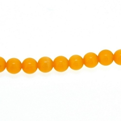 Catseye kraal rond oranje 4 mm (streng)