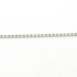 Ballchain, zilver, 1.5 mm (1 meter)