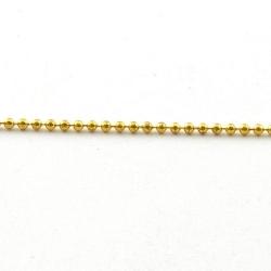 Ballchain, goud, 1,5 mm (1 meter)