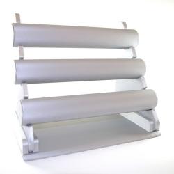 Armband display, PU leer, zilver, 3 rollen (1 st.)