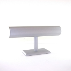 Armband display, PU leer, zilver, staand, 1 rol (1 st.)