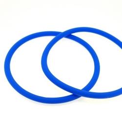 Siliconen armbandje, 4 mm, blauw (1 st.)