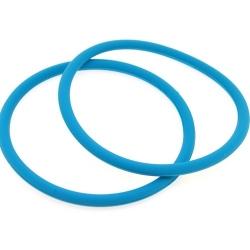 Siliconen armbandje, 4 mm, turquoise (1 st.)