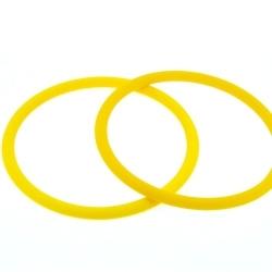 Siliconen armbandje, 4 mm, geel (1 st.)