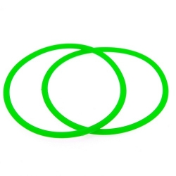 Siliconen armbandje, 3 mm, groen (1 st.)