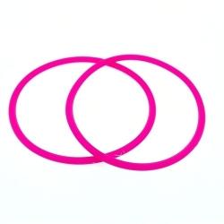 Siliconen armbandje, 3 mm, neon roze (1 st.)