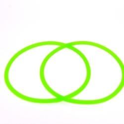 Siliconen armbandje, 3 mm, neon groen (1 st.)