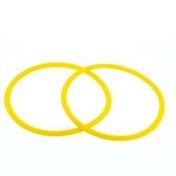 Siliconen armbandje, 3 mm, geel (1 st.)