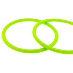 Siliconen armbandje, 4 mm, neongroen (1 st.)