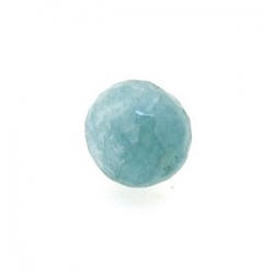 Dyed Jade, kraal, rond, facetten, blauw, 8 mm (10 st.)