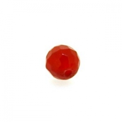 Dyed Jade, kraal, rond, facet, ruby, 6 mm (10 st.)