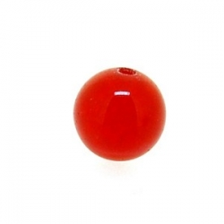 Dyed Jade, kraal, rond, ruby, 6 mm (10 st.)