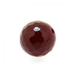 Dyed Jade, kraal, rond, facet, dark ruby, 10 mm (10 st.)