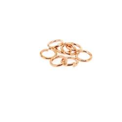 Ring open roségoud 12 mm (10 gram)