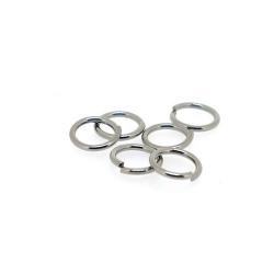 Ring open antique zilver 10 mm (10 gram)