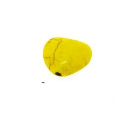 Gekleurd Turquoise, kraal, hart, geel, 11 mm (5 st.)