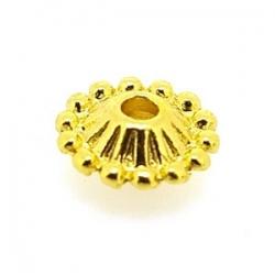 Metaal, spacer, goud, 4 x 11 mm (10 st.)