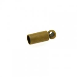Eindkapje, antique goud, rond, 7 mm, binnenmaat 1,5 mm (20 st.)