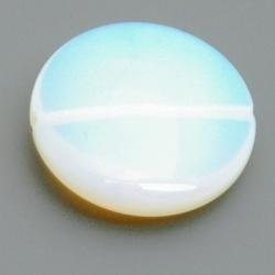 Maansteen kraal rond plat 25 mm (3 st.)