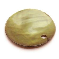 Schelpbedels, groen, 15 mm (20 gr.)
