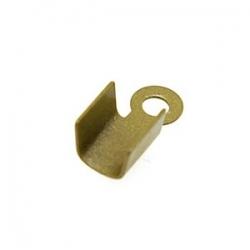 Veter-/koordklem, antique goud, recht, 4 mm (25 st.)