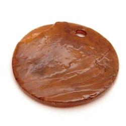 Schelpbedels, bruin, 14 mm (17 gr.)