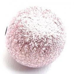 Kunststof kraal rond roze metallic 18 mm (5 st.)