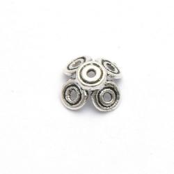 Metaal, spacer, zilver, 4 x 12 mm (10 st.)