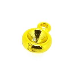 Metaal, hanger voor cabochon/plaksteen, rond, goud, 18 mm (5st.)
