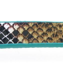 Snakeleather, plat, groen, 1 cm (1.20 mtr.)