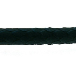 Snakeleather, rond, donkerblauw, 6 mm (1 mtr.)