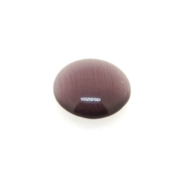 Cabochon/plaksteen, glas, catseye, rond, paars, 12 mm (5 st.)