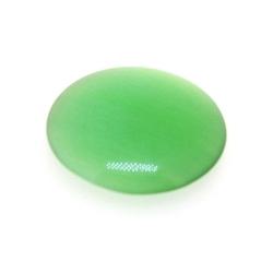 Cabochon/plaksteen, glas, catseye, rond, groen, 20 mm (3 st.)