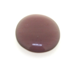 Cabochon/plaksteen, glas, catseye, ovaal, paars, 18 x 13 mm (5 st.)