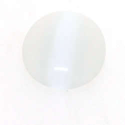 Cabochon/plaksteen, glas, catseye, ovaal, wit, 18 x 13 mm (5 st.)