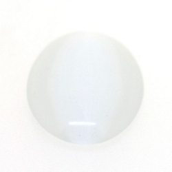 Cabochon/plaksteen, glas, catseye, ovaal, wit, 25 x 18 mm (3 st.)
