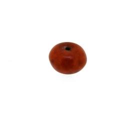 Gekleurd Turquoise, kraal, bruin, donut, 5 x 8 mm (streng)