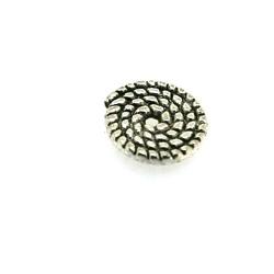 Metaal, spacer, rond, antique zilver, 2 x 10 mm (5 st.)